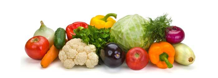 zelenina - kalorické tabuľky