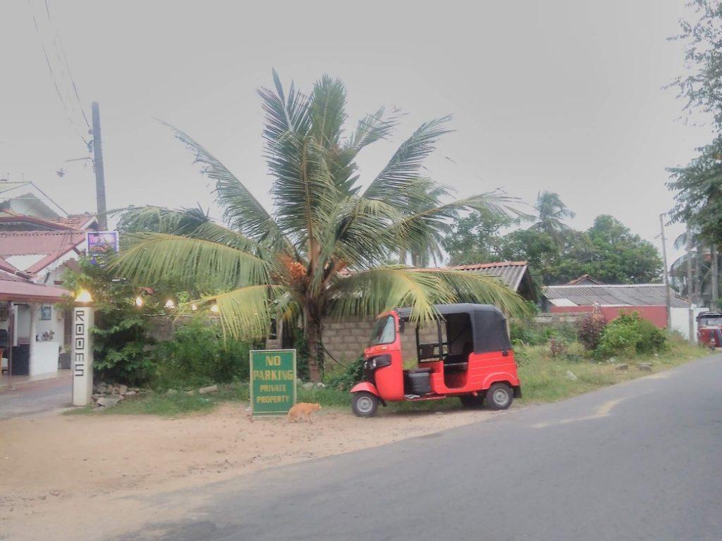Srí Lanský dopravný prostriedok - tuk-tuk.