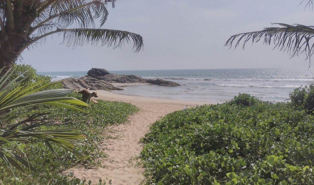 Pláž v Bentote.